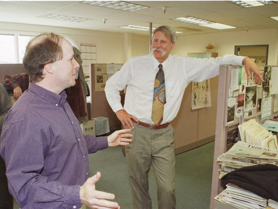 Tribune Editor Jim Strauss and Projects Editor Eric