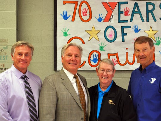 From left to right: A.J. Moore, current CEO of YMCA,