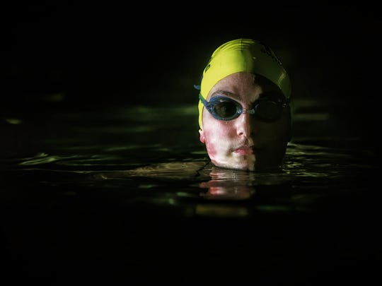Athlete of the week, A.I. du Pont swimmer Alicia Diaz.