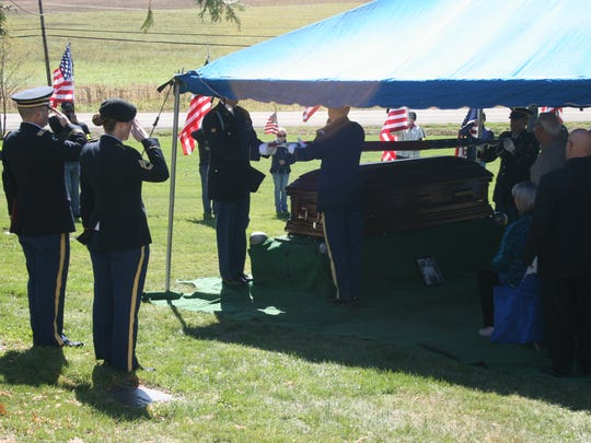 U.S. Army Cpl. William H. Smith received full military honors at a burial in Elmira. His remains were recently identified after he was declared missing in action in the Korean War in 1950.
