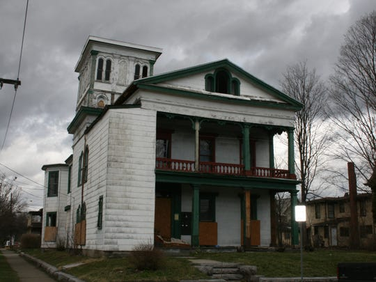 A vacant, foreclosed property on West First Street in Elmira that was recently transferred to Chemung County's land bank. The City of Elmira is pursuing grant funding to help revitalize neighborhoods and mitigate blight.
