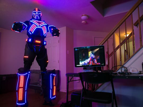 He first built the giant LED suit that shoots smoke as a Salesianum School student. Now Spencer Bahnsen is turning Ultra LED Man into a touring act, headlining DJ dance party gigs across the East Coast including The Queen and coming this summer, Dewey Beach.