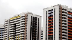 A view of athlete housing at Athlete Village where