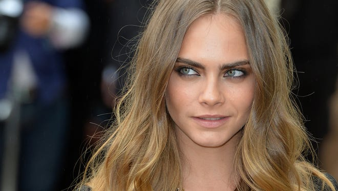 Supermodel Carla Delevingne is one celebrity sporting strong, full eyebrows.