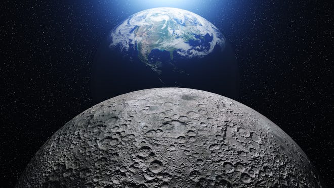 "New research suggests ""that the bulk interior of the moon is wet,"" Brown University scientists say."