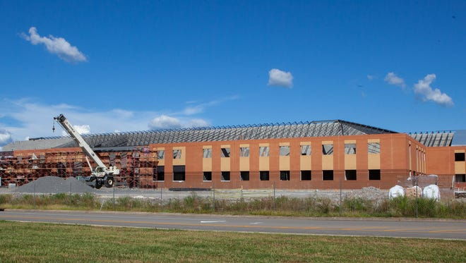 Rockvale High School is under construction on Highway 99 southwest of Murfreesboro. The school is slated to open August 2019.