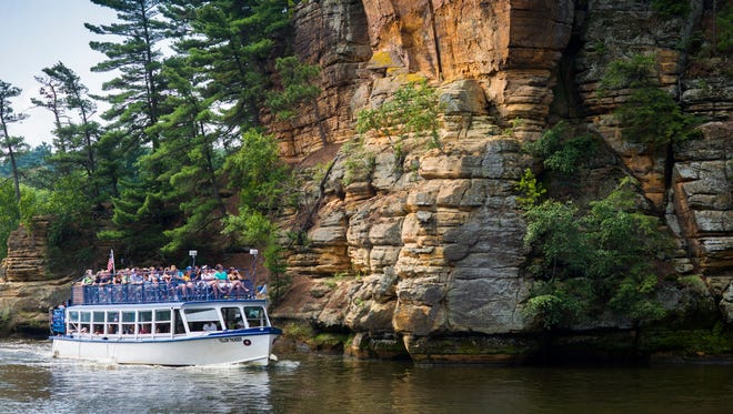Boat rides are among the attractions at the Wisconsin Dells tourism area. Spending by travelers in Wisconsin again increased last year, according to a new state Department of Tourism study.