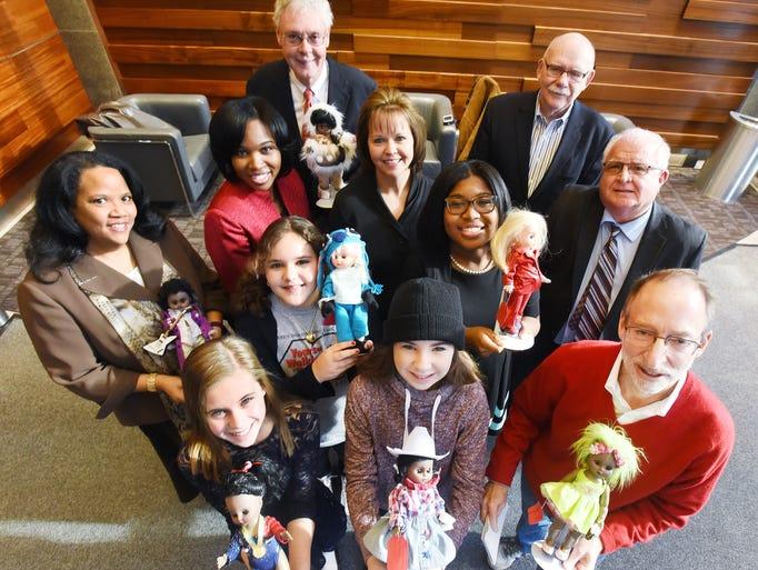 Judges Lauren Koski, 11, Sophia Virga, 10, Tori Pomeroy,