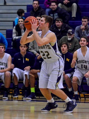 "Eastern York's Evan Springer showed the ability to shoot lights out off the bench last year for the Golden Knights. Now, they'll need him to do it in a starting role this year. Eastern was mentioned as a ""team to watch"" in City of Basketball Love's preseason rankings for Class 4-A. (John A. Pavoncello - The York Dispatch)"