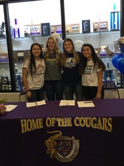 The Cougars had four students sign on Wednesday including