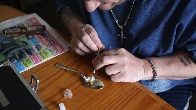 A heroin user.