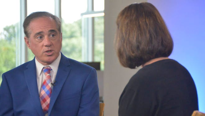 Secretary of Veterans Affairs David Shulkin at USA TODAY in McLean, Va., on July 26, 2017.