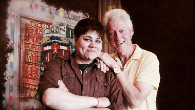 Bonnie Saran with Bill Clinton