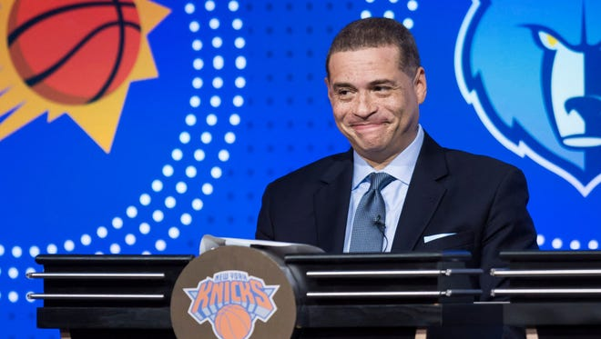 New York Knicks General Manager Scott Perry during the 2018 NBA Draft Lottery at the Palmer House Hilton