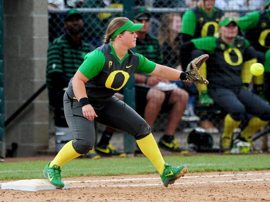 Oregon softball player Hailey Decker, from McNary.