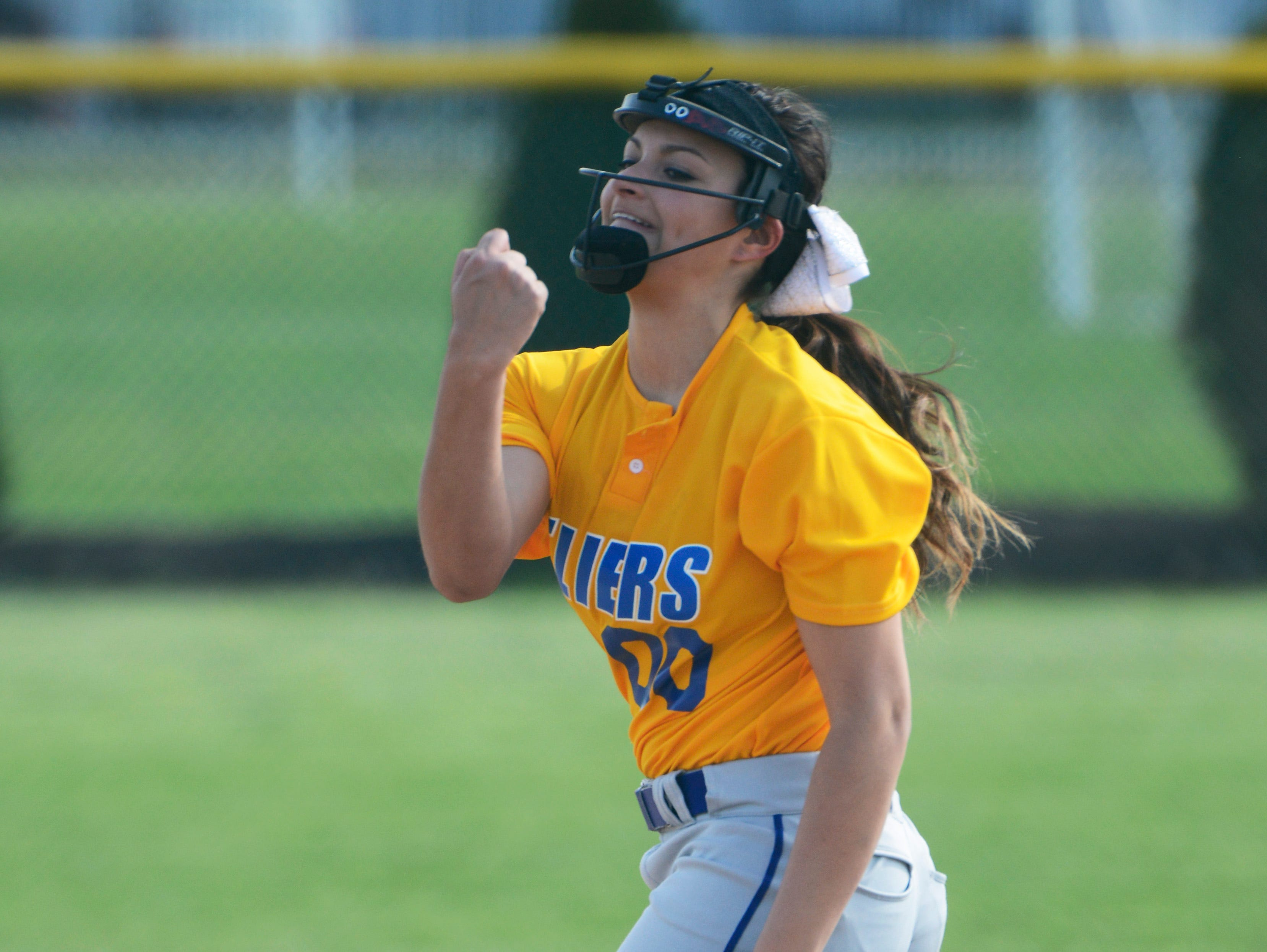 Clyde pitcher Adriana Sanchez releases a pitch against Margaretta in a game Wednesday afternoon.