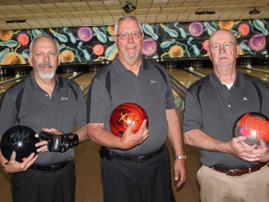 From left, bowlers Jerry Weaver, Tom Zipay and Gary