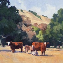 Open Air paintings on display at Steinbeck Center