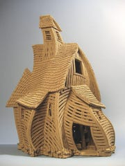 The work of Burlington artist John Brickels, known for his barn sculptures, will be presented at a farewell show through June at Frog Hollow in Burlington.