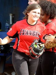 Evangel's Tally Turnbow set the school home run record