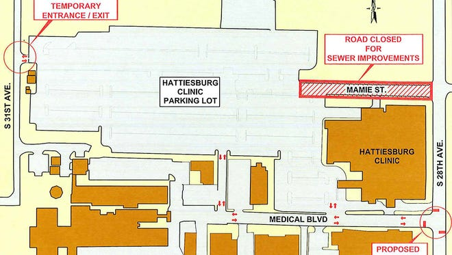 Hattiesburg Clinic will temporarily reroute its traffic starting Oct. 3