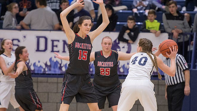 Buckeye Central's Lexi Evak and Courtney Pifher will play major roles off the bench for the Buckettes come tournament time.
