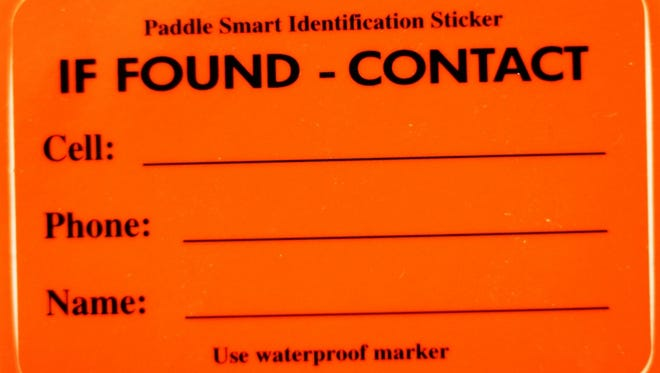 "These ""If Found"" labels can be obtained from the Coast Guard Auxilary units."