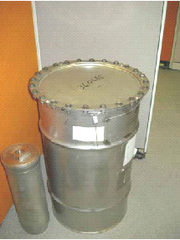Containers used to ship and store plutonium like this one were used to improperly ship material by air to California and South Carolina in June.