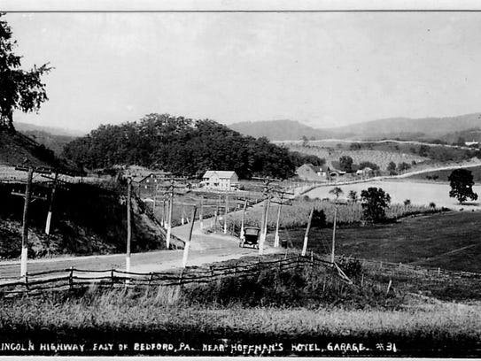 The Lincoln Highway near Bedford, sometime before the