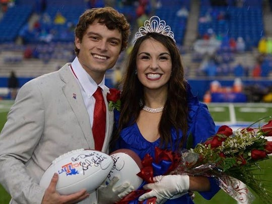 Bailey Laborde of Alexandria and Hannah Francis of Jena were named Louisiana Tech University's 2015 homecoming king and queen.