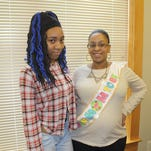 Amarie Makins and her mother, Tina Moye.