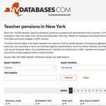 Teacher pension database