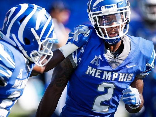 "University of Memphis defensive back Terrell ""TJ"" Carter"