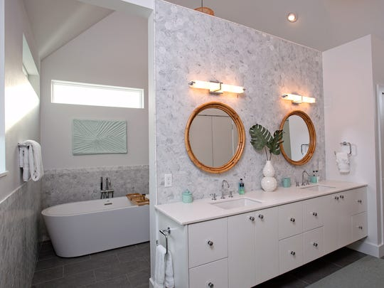 The master bath is a sight to behold with a gorgeous