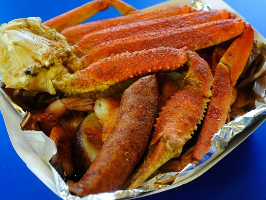 Snowcrab boil basket at the Seafood Bistro, located