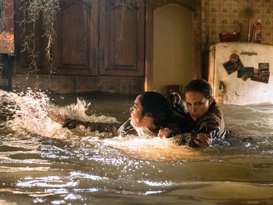 "Tessa Thompson (left) and Natalie Portman star in ""Annihilation."""