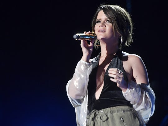 Maren Morris performs June 10, 2017, during the CMA Music Festival at Nissan Stadium.