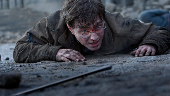 Daniel Radcliffe is shown in a scene from 'Harry Potter