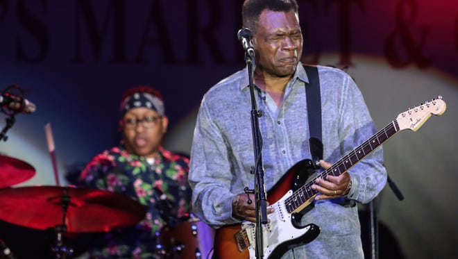 """Blues vet Robert Cray headlines the """"Stars at the Shell"""" concert at Overton Park on Friday."""