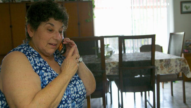 Jeri Vargas takes a phone call at her mother's home in the Sherman Oaks area of Los Angeles. Jeri Vargas put her elderly mother on the 'Do Not Call' list years ago. So why is the 88-year-old woman with Alzheimerís disease still getting several recorded phone calls a day pitching her everything from vacation cruises to medical alert devices and fire extinguishers?