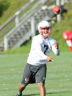 Marist College Football's first official preseason practice of the year on Thursday. Marist opens its regular season on Sept. 5 at Bucknell.