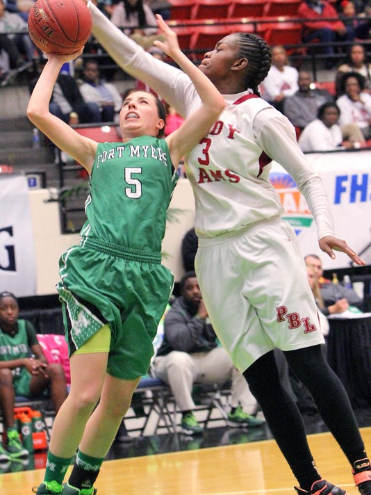 Fort Myers Green Wave and Palm Beach Lakes during the FHSAA Girls 7A Basketball championship