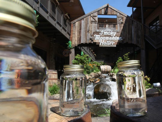 Ole Smoky Distillery in downtown Gatlinburg, which