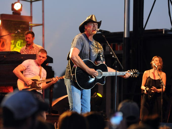 Trace Adkins performs for a sold-out crowd Friday at