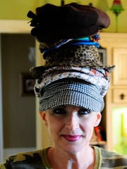 Hats, hats and more hats. Madelene Boudreaux loved