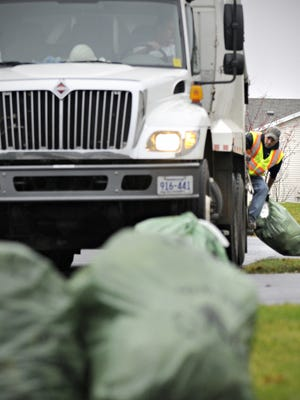 Refuse bags picked up by St. Cloud city employees.