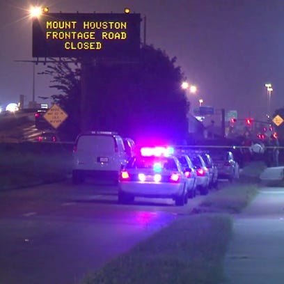 9600 block of the north freeway, southbound side in