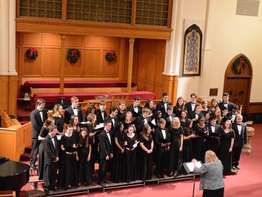 Choir members from Hunterdon Central Regional High