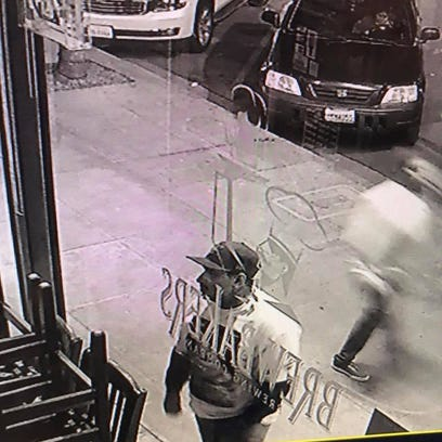Police are searching for the man responsible for vandalizing