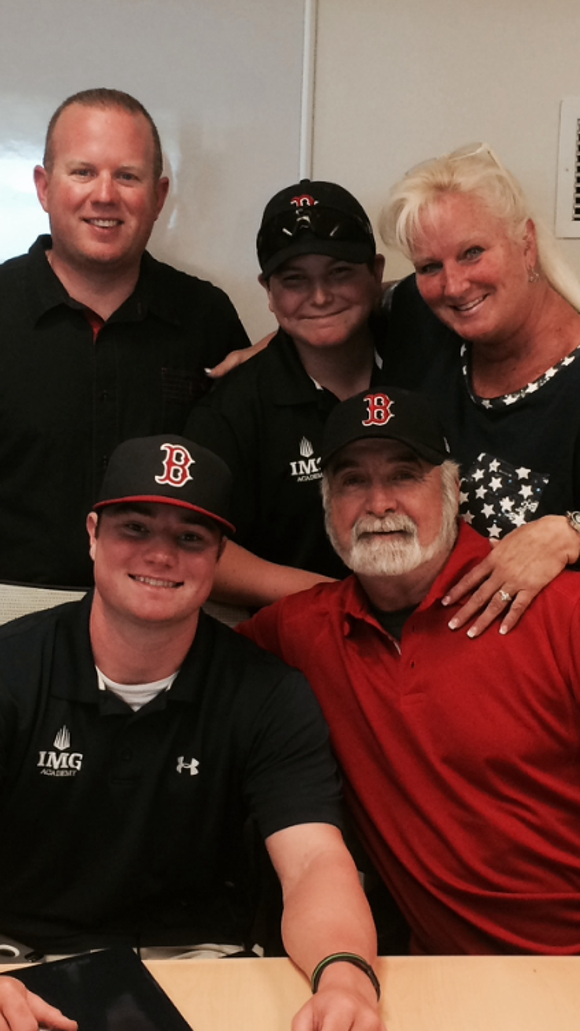 Fletcher's Logan Allen signed with the Boston Red Sox on June 21.